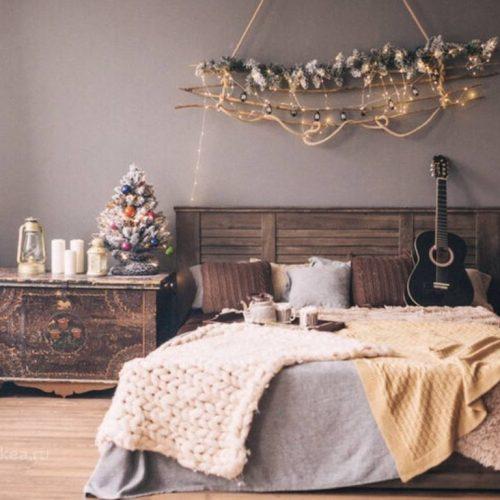 Кровать из коллекции Кантри цвет Орех Рибек темный.