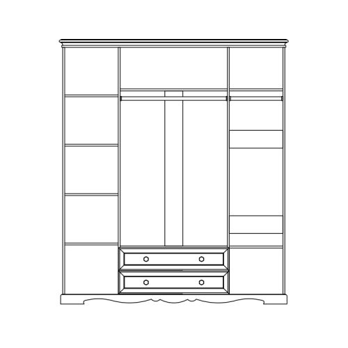 Шкаф для одежды ЛОЛИТА1 фото